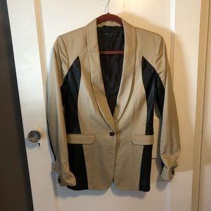 Rag & Bone Jefferson leather panel blazer